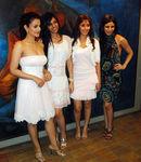 Amisha Patel, Nishka Lulla, Manjari Phadnis, Soniya Mehra at New Collection Preview The Fashion Store, Charni Road, Mumbai, 30th September, 2009