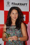 Beautiful Latin Actress Barbara Mori with Hrithik Roshan at Mumbai BIG FM Radio Studios (2)