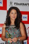 Beautiful Latin Actress Barbara Mori with Hrithik Roshan at Mumbai BIG FM Radio Studios (3)