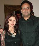 Bhagyashree with Husband Himalaya Dassani