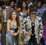 Hansika Motwani and Govinda on the sets of Money Hain To Honey Hain