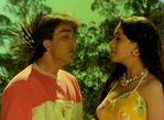 Bollywood Actress Madhuri Dixit with Sanjay dutt