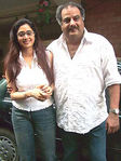 Actress Sridevi with Boney Kapoor