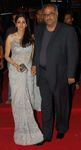 Sridevi with Boney Kapoor at Premiere of the movie Slumdog Millionaire,