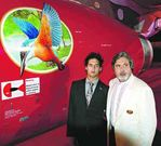 Kingfisher chief Dr.Vijay Mallaya with son Siddharth mallya