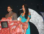 MC- Lto R Ayushmaan and Neha Dhupia at Pearls Wave Award Night