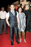 Aamir Khan and wife at the premier of 'Race'