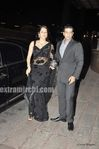 Isha Koppikar was potted with husband Timmy Narang  at Laila Khan Reception Party (1)
