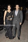 Isha Koppikar was potted with husband Timmy Narang  at Laila Khan Reception Party (2)
