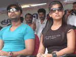 Silambarasan and Nayanthara (broke up pair) at Hogenekkal water issue hunger strike.