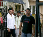 Actor Surya and Director Goutham menon at the Varanam Aayiram Shooting spot