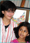 Akshara Hassan with Gowtami's daughter Subbulakshmi