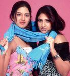 Geethu Mohandas with Vimala Raman