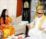 Keerthi Chawla  with Tamil Nadu CM M Karunanathi