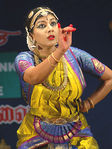 Actress and Bhrathanatyam dancer Swarnamalya performs