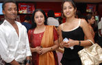 Trisha with her mother Uma Krishnan and designer S.S Sidney