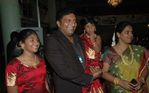 Prakash Raj with wife and childrean at Abhiyum Naanum movie audio launch