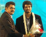 K S Ravi Kumar , Vijay at Dasavatharam audio launch