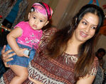 Jyothika with daughter Diya in a function (Baby's first outing)