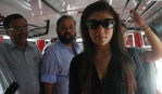 Kollywood Glam doll Nayanthara flagged off Kuselan Bus at Big 92.7 FM Chennai