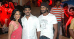 Vishal with brother Vikram Krishna and Vikram wife Shriya Reddy at Salute (Tamil Sathyam) release