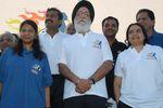 Union Sports Minister M S Gill and Kanimozhi Karunanidhi MP at Chennai Marathon 2008
