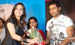 Soundarya Rajnikanth with Surya at Vaaranam Aayiram Audio launch