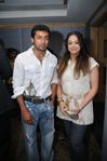 Surya and wife Jyothika at Filmfare Awards 2008 Function