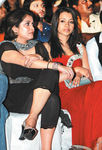 Ramya Krishnan and Trisha Krishna at Filmfare Awards 2008 Function