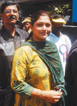 Kushboo at Hogenekkal water issue hunger strike