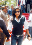 Priyamani at Hogenekkal water issue hunger strike