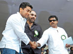Surya at Hogenekkal water issue hunger strike
