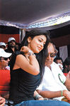 Shriya at Hogenekkal water issue hunger strike