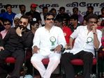 Kamal , Sarath, Rajinikanth at Hogenekkal water issue hunger strike