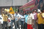 Sneha with Venkat Prabhu - Flags off Saroja Movie Bus