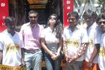 Sneha and Prasana Flags off Venkat Prabhu's Saroja Movie Bus in Chennai