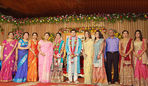 Sneha brother Balajee with Radhika reception photos