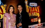 Sangeetha and Kirsh at Vijay Awards
