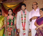 Sathyaraj with wife at Jayam Ravi and Aarthy Wedding Reception
