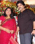 Ramki and Nirosha  at Jayam Ravi and Aarthy Wedding Reception