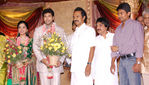Stalin and Udhayanidhi stalin  at Jayam Ravi and Aarthy Wedding Reception