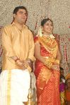 Actress Navya Nair and Santhosh Menon wedding reception photos (12)