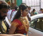 Navya Nair arriving for wedding at Alleppy district of Kerela