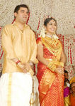 Navya Nair with and Santhosh Menon - marriage photo