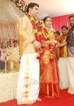 Navya Nair with and Santhosh Menon - marriage photos