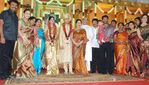 Vijayakumar family at Actor Prabhu daughter Aishwarya and Kunall marriage reception