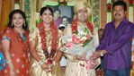 Director Shankar with wife at Actor Prabhu daughter Aishwarya and Kunall marriage reception