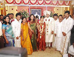 Actor Prabu son Vikram with Lakshmi Ujjaini Wedding