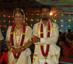 South indian and Bollywood actress Rambha and buisnessman Indra Kumar wedding pictures