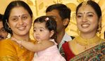 Devayani with her daughter at Sibiraj and Revathi Wedding Reception